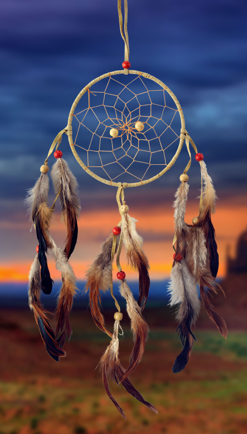 Shows an image of dreamcatcher owg002 on a scenic background