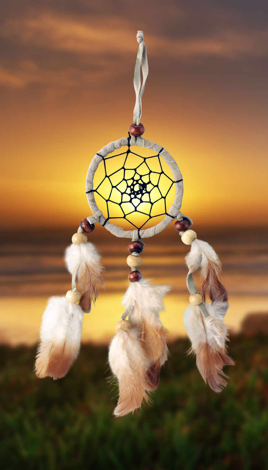 Shows an image of dreamcatcher owg006 on a scenic background